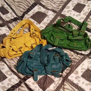 3 Multi-colored Purses
