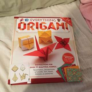 Origami Book Paper Included