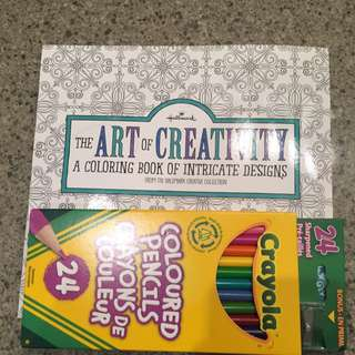 Stress Relieve Colouring Book & Crayons