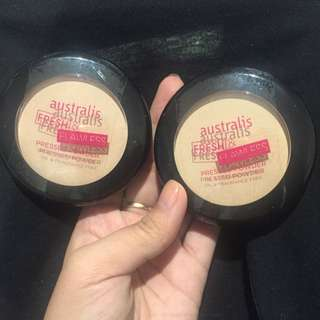 10 For 2 🎀 Australis Fresh&flawless Pressed Powder*Nude+ Natural