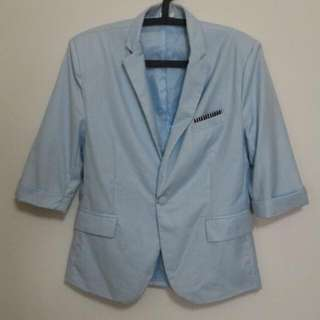 韓風七分袖西裝休閒外套