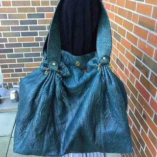 Emerald Green Italian Leather Bag