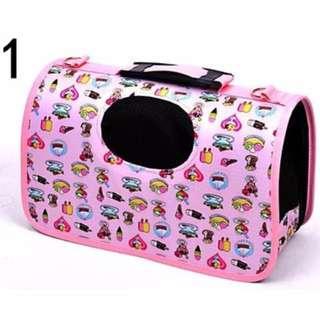 DP雜貨鋪 可折疊寵物外出包 可提可背透氣便攜式寵物外出提籠 貓狗用品