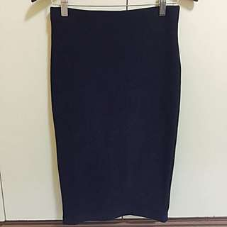 FOREVER21 Ribbed Pencil Cut Skirt