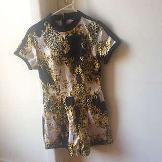 Gold Print Playsuit