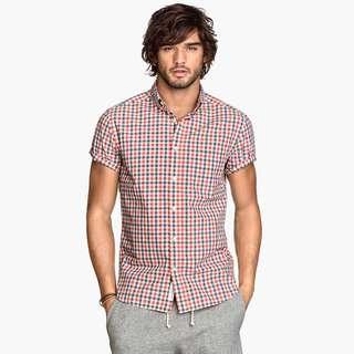 H&M Plaid Casual Men Shirt