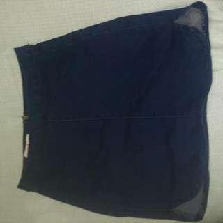 Supre Navy Denim Skirt