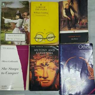 Various Literature Texts