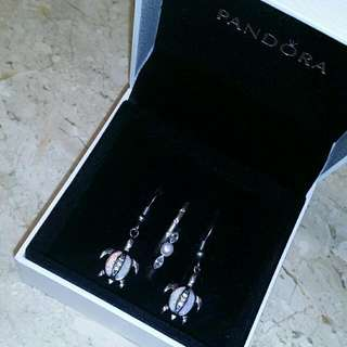 Authentic Pandora Pearl And Accent Rings