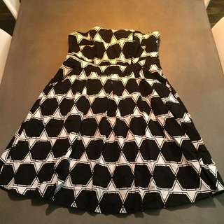City Chic Black And White Dress. Small