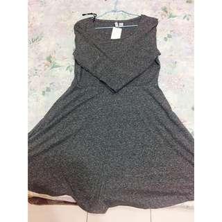 H&M素色七分洋裝