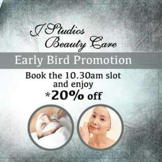 Facial Service: Early Bird Promotion By J Studios