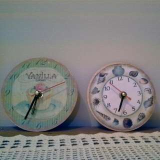 Decoupage Clock Two For Rp. 70.000