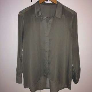 Khaki Green Blouse