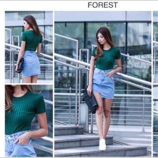 Knit Top in Emerald