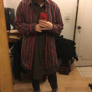 【降】美版古著外套oversize 超挺 紅綠