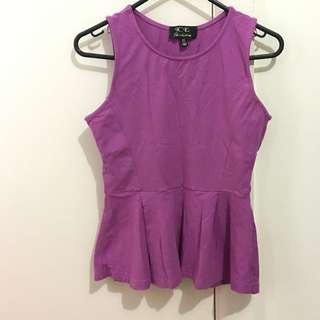 Purple Ice Peplum