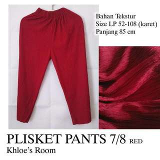 Plisket Pants 7/8 Merah