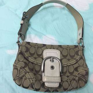 Coach Shoulder Bag With Large Buckle