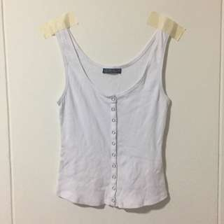 Cotton On button down ribbed tank