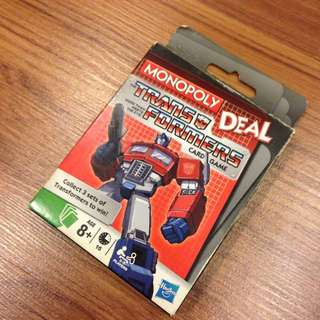 Transformers Monopoly Deal