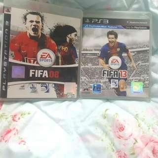 PS3 Games FIFA 08 & 13