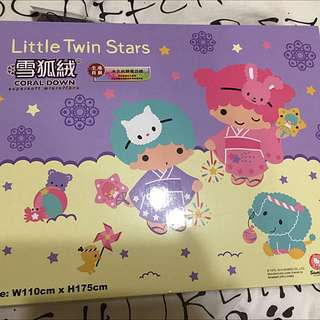 Sanrio Little Twin Stars Coral Down Blanket