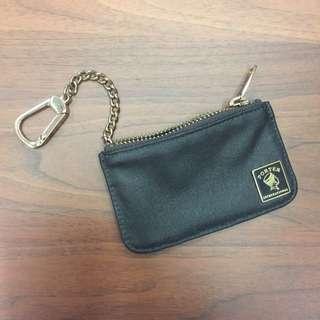 Porter MORI系列 鑰匙掛環零錢包 (咖啡色)
