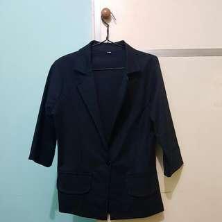 Tailored Women's Blazer in Navy Blue
