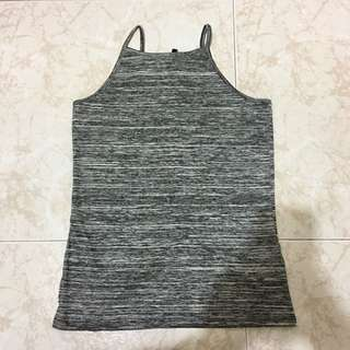 Brand New, New Look Grey Space Dye High Neck Camisole