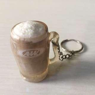 Gantungan Kunci 3D A&W Restaurant Root Beer Limited Edition Keychain