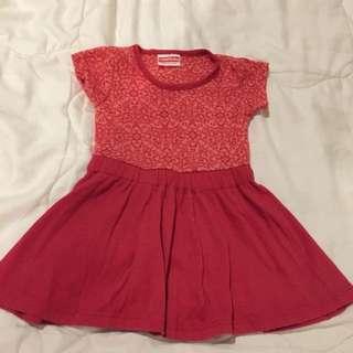Dress Merah ( Merk Cool Baby)