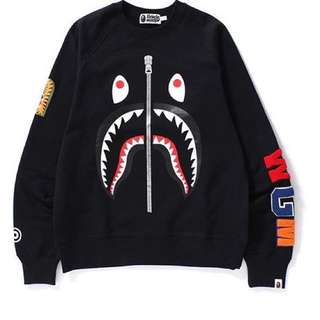 Bape Shark Crewneck Black Japan