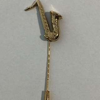 Vintage Saxophone Brooch/Pin