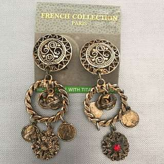 80s Vintage Clip-on Earrings