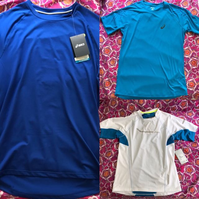 3 New Asics Training Tops Size Large