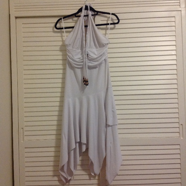 Boho long white summer dress