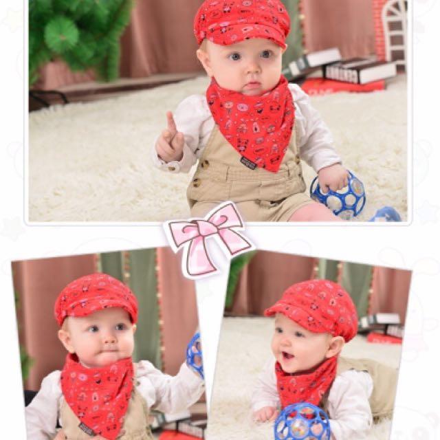 嬰兒帽子+三角巾