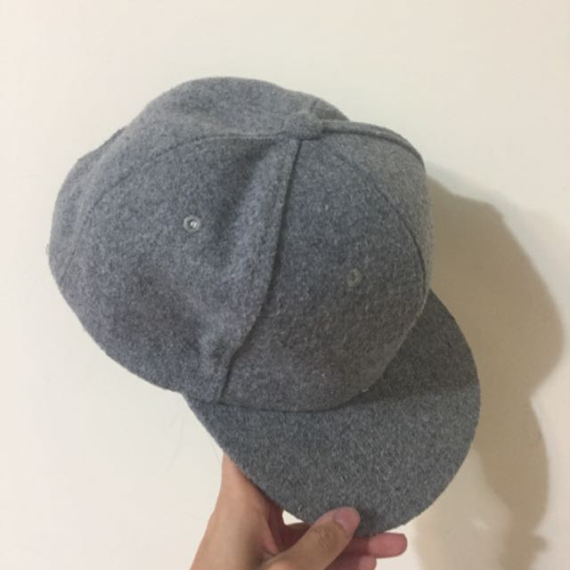 素面鴨舌帽(灰)