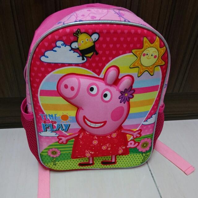 粉紅佩佩豬後背包