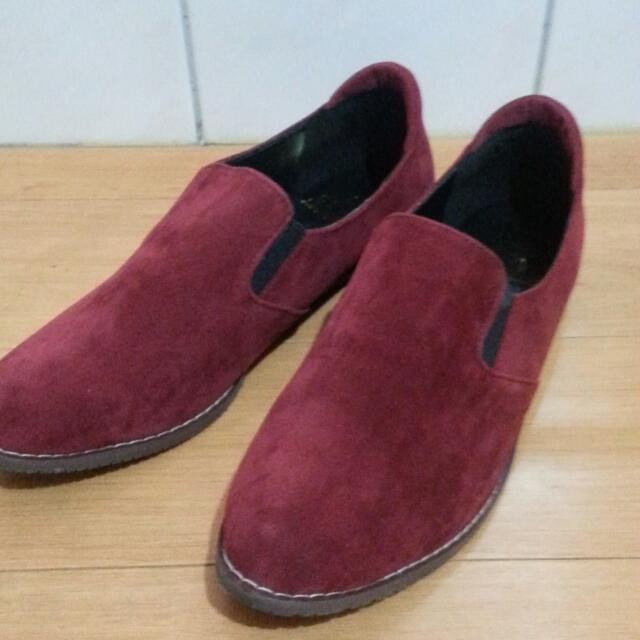 麂皮牛津鞋