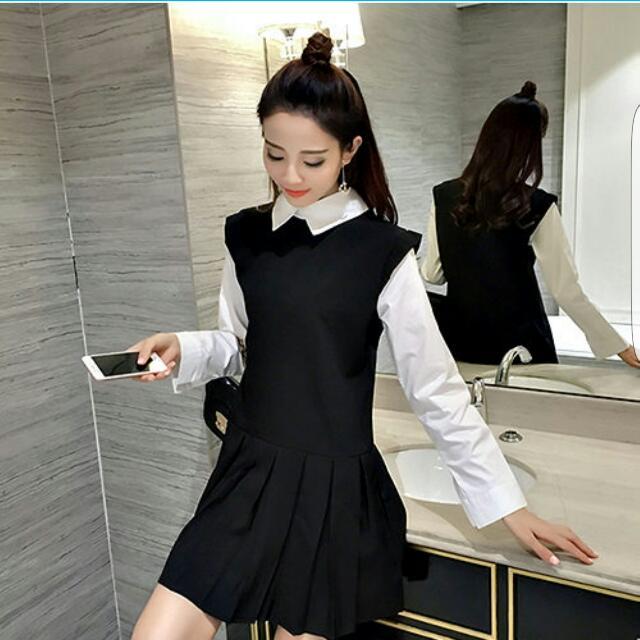 氣質黑白洋裝