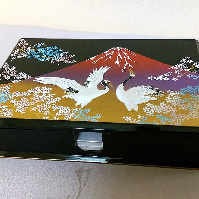 日本漆器首飾盒(附鏡子)