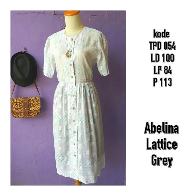 Abelina Lattice Grey