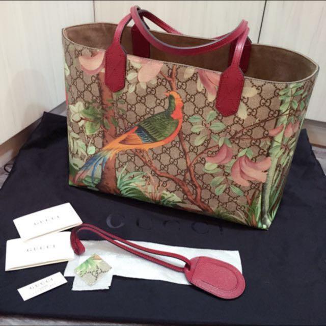 9f5d7e750 Authentic Gucci Tian Medium GG Supreme Tote Bag, Women's Fashion ...