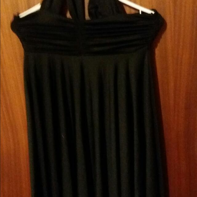 Black Dress With Jewel In Chest
