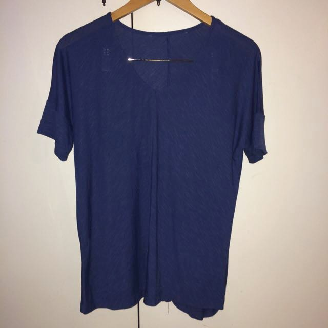 Blue V Neck Shirt