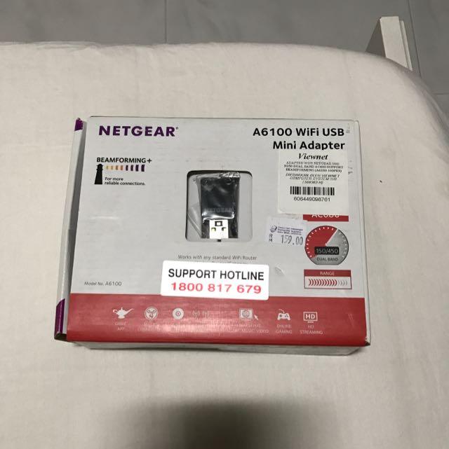 BNIB Netgear A6100 Wifi Usb Mini Adapter, Electronics