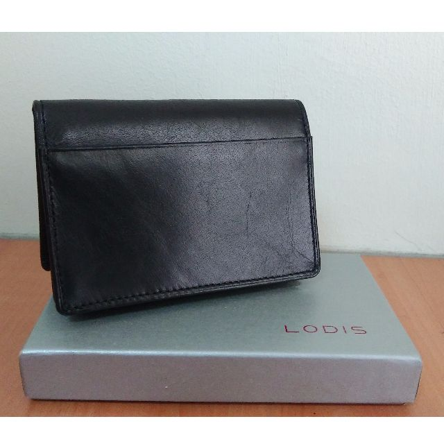 new concept 32211 c5c66 Brand New - Authentic Lodis Calfskin Leather Men's Business Card holder