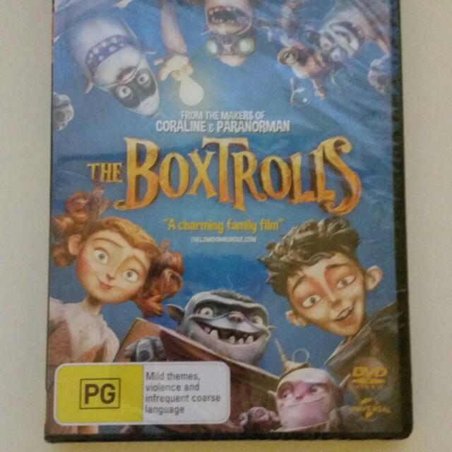 Brand New Boxtrolls Dvd